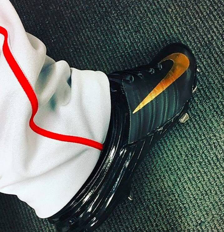 What Pros Wear Mike Trout S Nike Lunar Trout 2 Cleats What