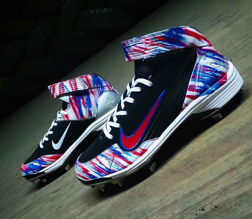 lebron baseball cleats. rougned odor nike huarache lwp90 cleats lebron baseball
