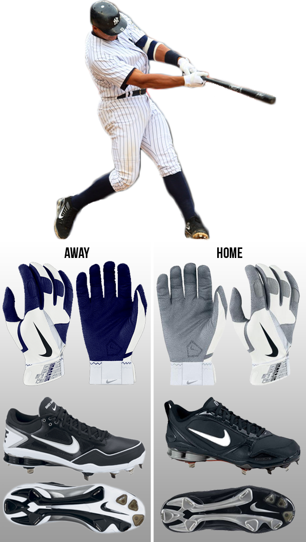 arod batting gloves, nike batting gloves, nike shox gamer cleats, nike fuse 2 cleats