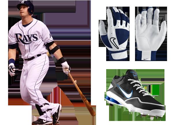 Evan Longoria, Nike Fuse Batting Gloves, Nike Shox Gamer Spikes, Nike Shox Gamer Cleats, evan longoria cleats, evan longoria batting gloves