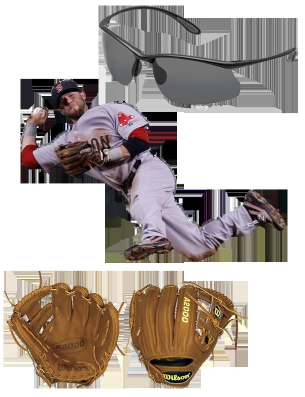 Pedroia Glove Model, wilson glove, wilson a2000, wilson a2k, wilson a2000 dp15, wilson a2k dp15, Pedroia Sunglasses, bolle, bolle kicker