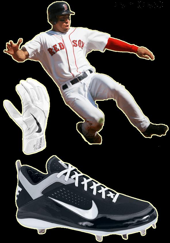 jacoby ellsbury batting gloves, jacoby ellsbury cleats, nike batting gloves, nike cleats