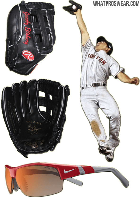 jacoby ellsbury glove, jacoby ellsbury rawlings, jacoby ellsbury sunglasses, rawlings heart of the hide, rawlings pro h, nike show x2
