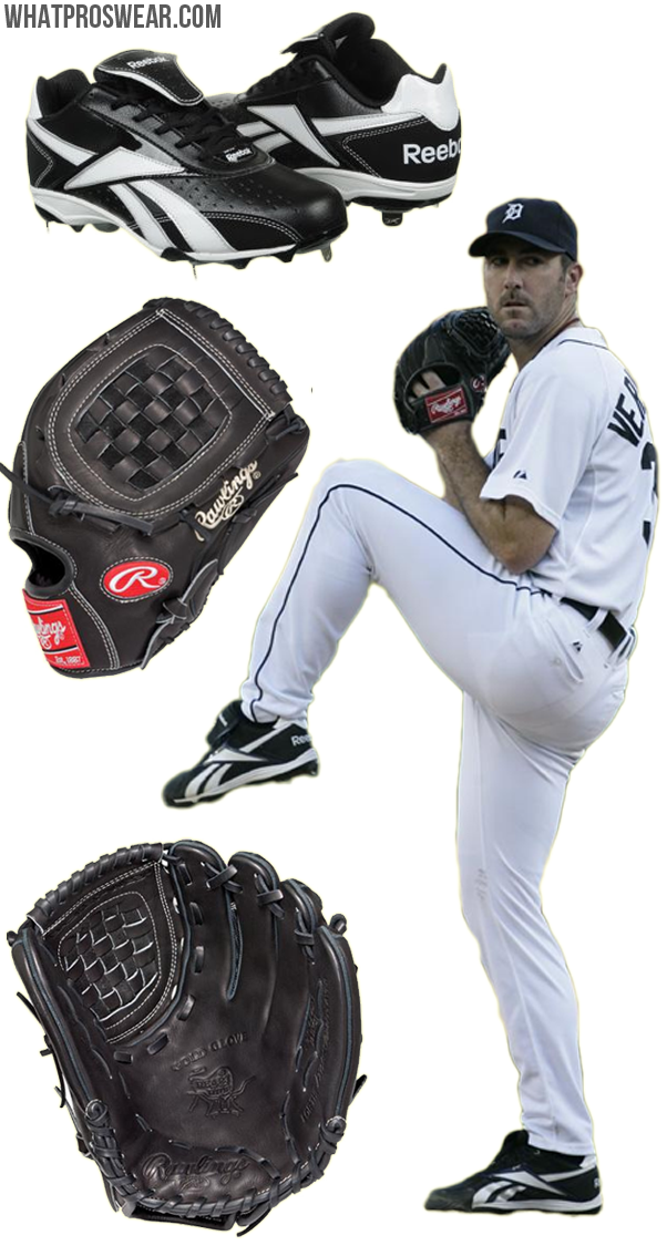 justin verlander glove model, verlander cleats, reebok baseball, rawlings glove, PRO12M, heart of the hide