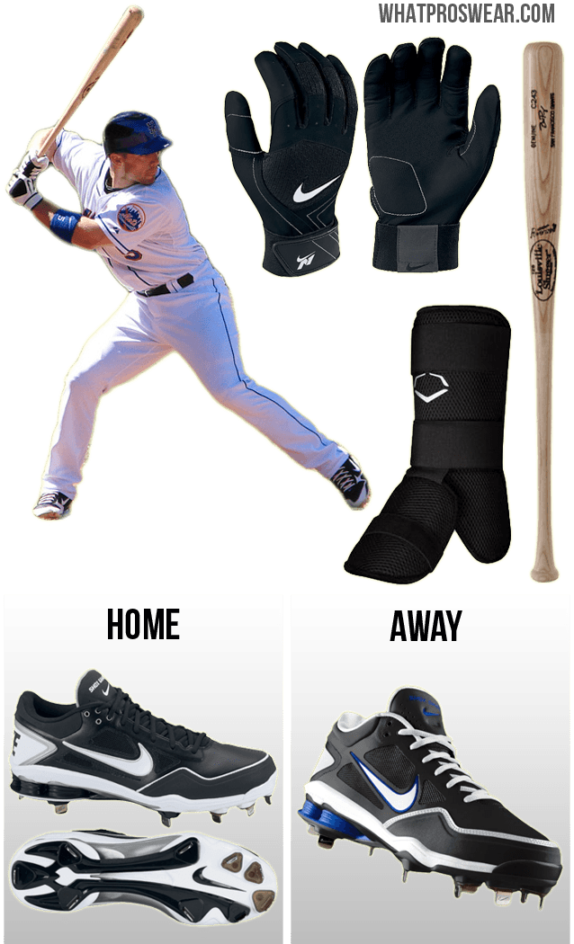 david wright bat, david wright batting gloves, david wright nike cleats, nike fuse n1, nike shox gamer, evoshield