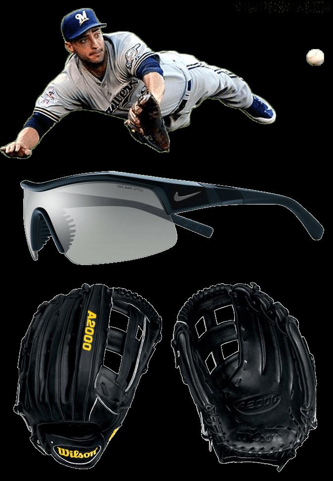 ryan braun glove model, wilson 1799-b glove, ryan braun sunglasses, nike show-x1 sunglasses