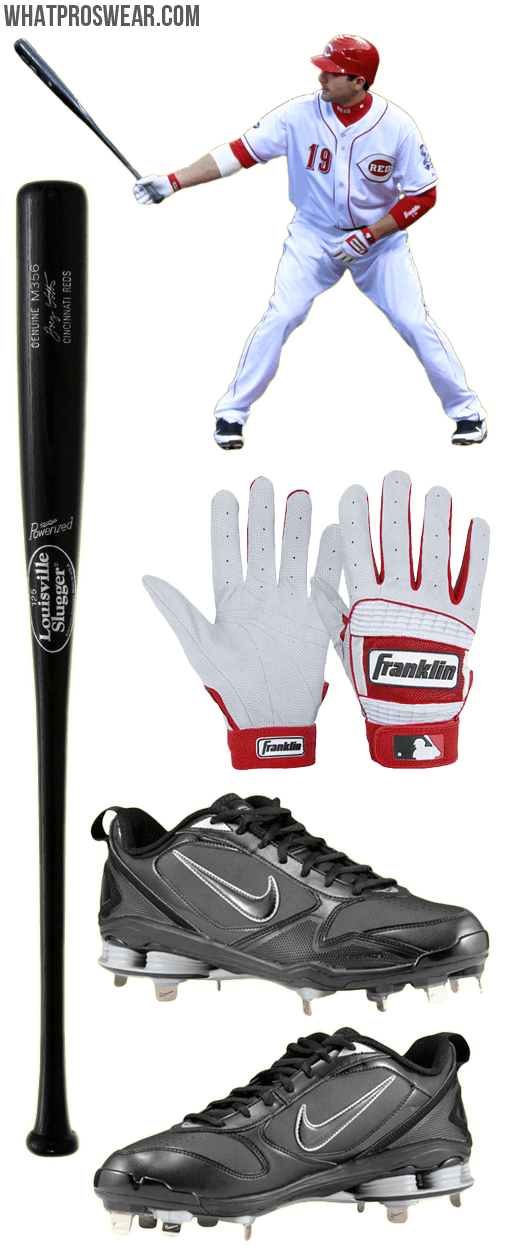 joey votto bat model, joey votto batting gloves, nike shox fuse 2, louisville slugger m356