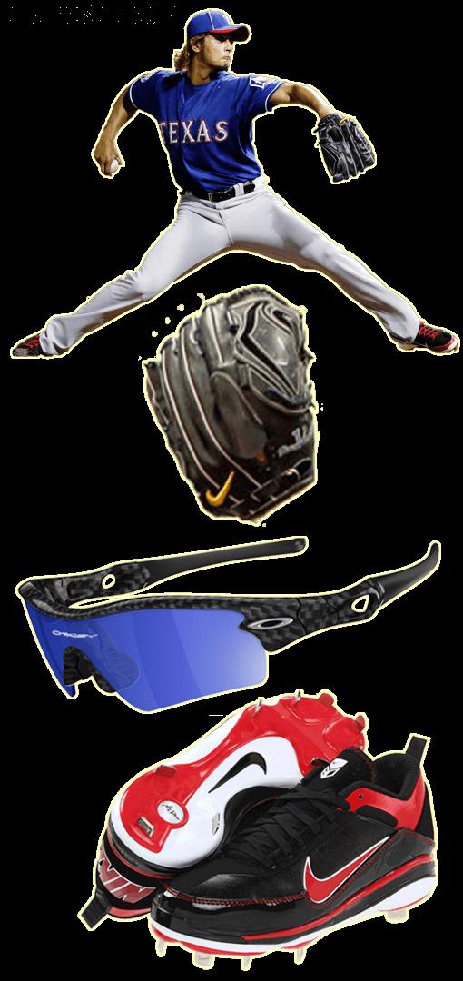 yu darvish glove model, nike glove, yu darvish cleats, oakley radar path, nike air show elite