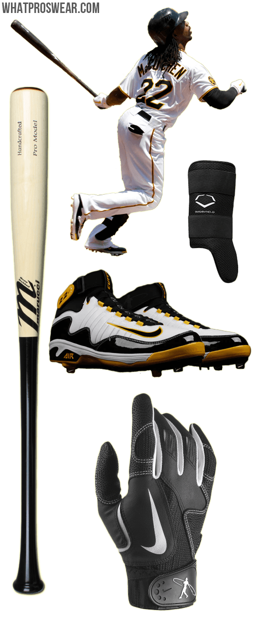 andrew mccutchen bat, andrew mccutchen swingman batting gloves, nike ...