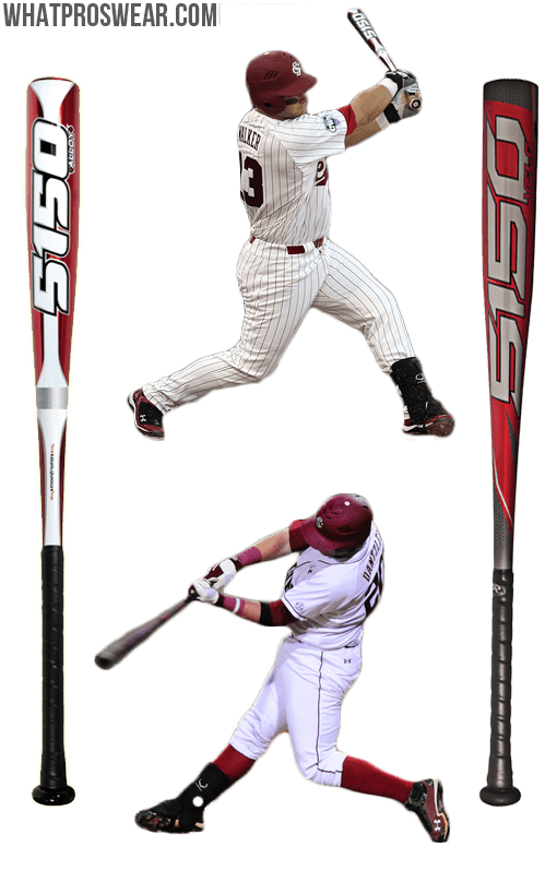 rawlings 5150 velo bat, 5150 alloy, south carolina gamecocks baseball, lb dantzler, christian walker
