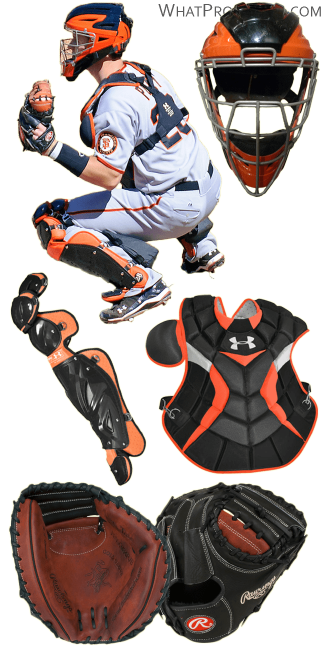 buster posey glove model, buster posey chest protector, under armour shin guards, proscm34pjb, posey mask