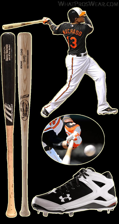 manny machado bat, manny machado cleats, under armour batting gloves, marucci ap5, under armour natural cleats