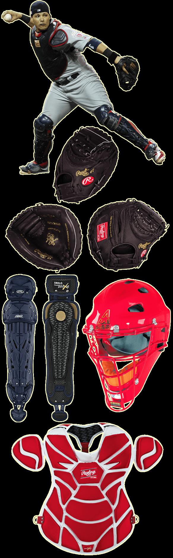 yadier molina mask, yadier molina catcher gear, yadier molina chest protector, yadier molina glove, PROSCM41