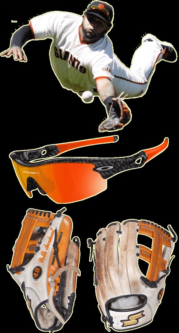 pablo sandoval glove model, pablo sandoval sunglasses, pablo sandoval ssk glove, oakley radar custom