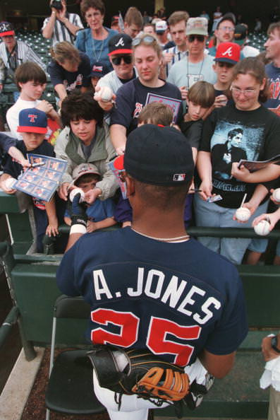 Andruw Jones #25 Of The Braves