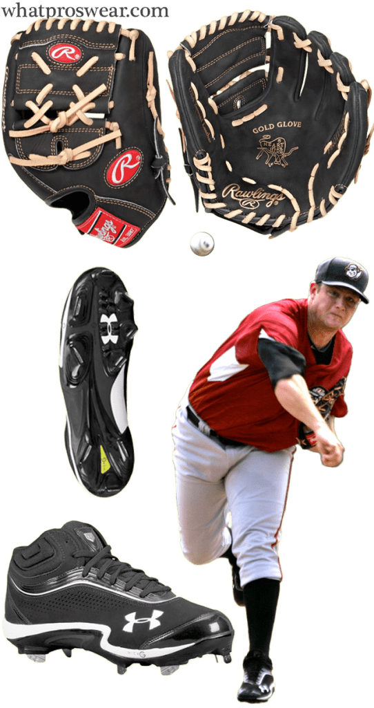 gerrit cole glove model, gerrit cole cleats, rawlings pro1000 9jb, rawlings heart of the hide two piece, under armour heater iv cleats