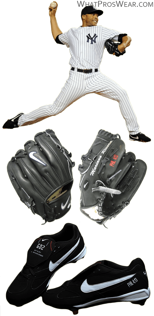 mariano rivera glove model, mariano rivera cleats, nike cooperstown, nike pro gold