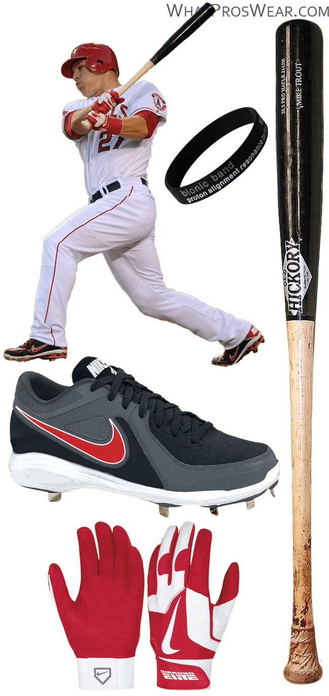 mike trout cleats, mike trout bat model, mike trout nike, mike trout batting gloves