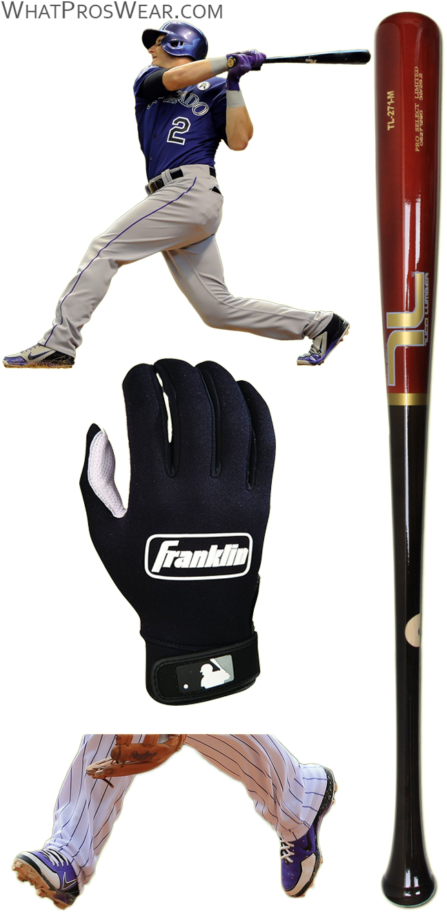 troy tulowitzki bat model, troy tulowitzki batting gloves, tulo cleats, huarache 2kfresh, franklin cold weather