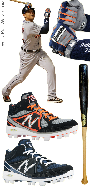 miguel cabrera bat, miguel cabrera batting gloves, new balance 3000 cleats, new balance 2000 cleats, franklin cfx pro batting gloves, sambat, sam bat