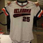 My favorite jersey in college baseball.  The Pokes throwback.