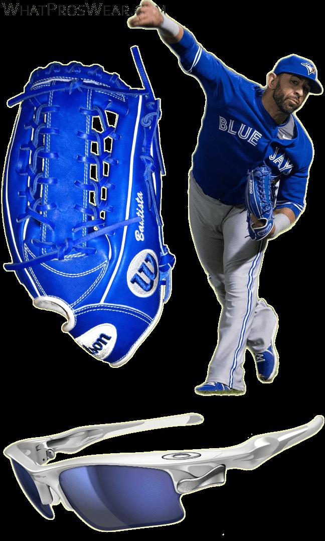 jose bautista glove model, wilson custom glove, wilson kp92, oakley fast jacket xl