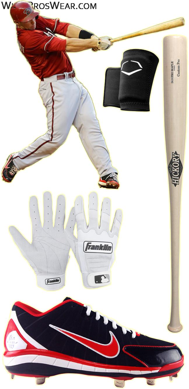 paul goldschmidt bat model, paul goldschmidt old hickory, franklin cfx pro batting gloves, paul goldschmidt cleats, nike huarache 2k4 cleats, old hickory tc1