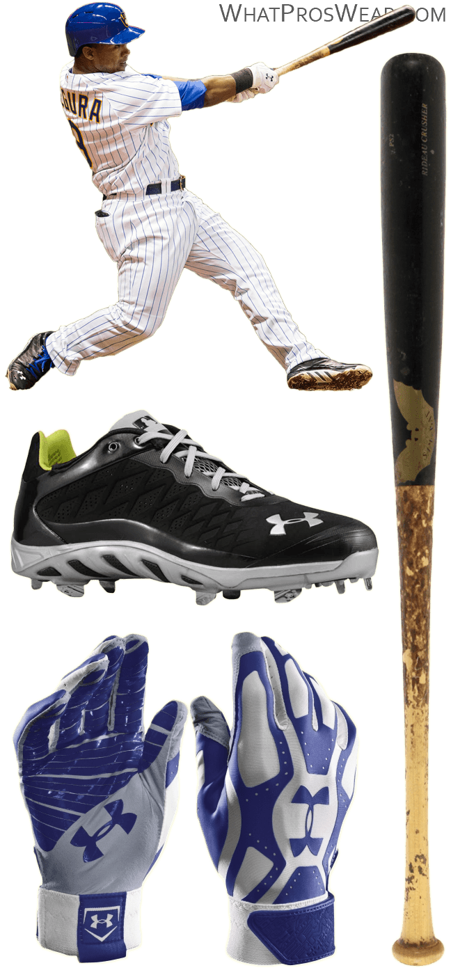 jean segura bat model, jean segura batting gloves, under armour cleats, under armour motive, spine low cleats, sam bat ps2