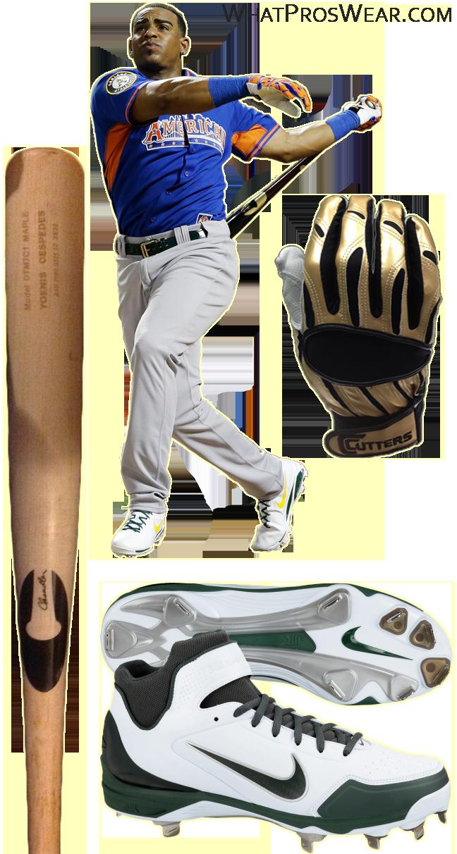 yoenis cespedes bat model, yoenis cespedes chandler, cutters batting gloves, nike air huarache 2kfresh