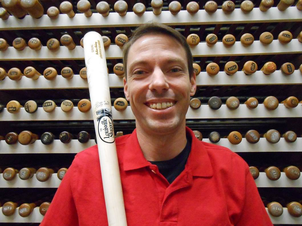 Louisville Slugger's Museum Curator, Nathan Stalvey