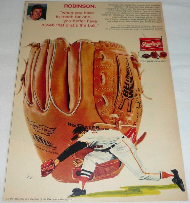 Rawlings ad featuring Brooks Robinson from 1970.