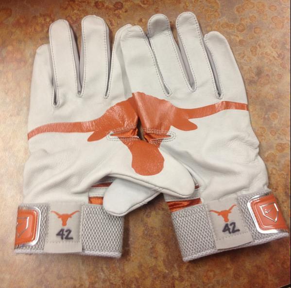 Custom Longhorn Nike MVP Elite Pro Batting Gloves