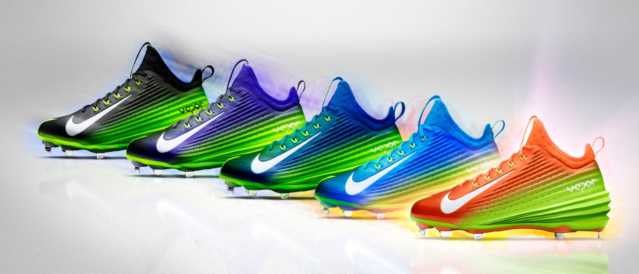 Nike Lunar Vapor Trout Spectrum Collection (All Star 2014 Cleats)