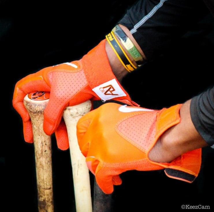Nike Batting Gloves Orange: What Pros Wear Adam Jones' Swingman Batting Gloves What