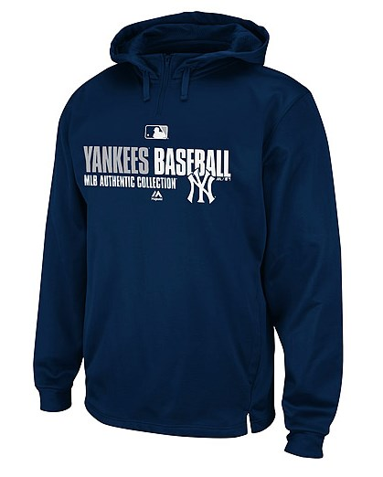 Jacoby Ellsbury's Majestic MLB Authentic Collection Hooded Fleece