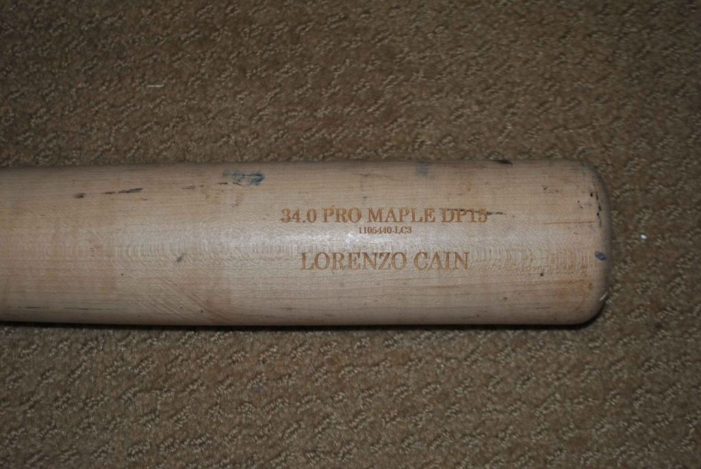 Lorenzo Cain's Old Hickory DP15 Maple