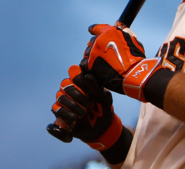 Nike Batting Gloves Orange: What Pros Wear Brandon Crawford's Lizard Skins Bat Wrap