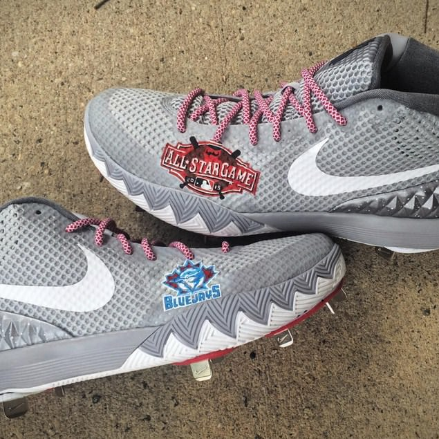 What Pros Wear Josh Donaldson s Nike Kyrie 1 Cleats (by Custom ... c887ab6a4