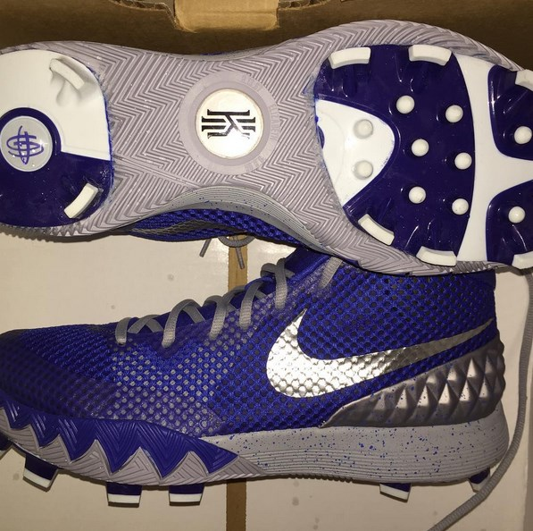 Alcides Escobar s Custom Nike Kyrie 1 Cleats 80bf81691