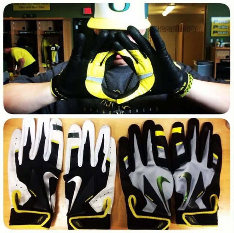 Oregon Nike Batting Gloves 2016