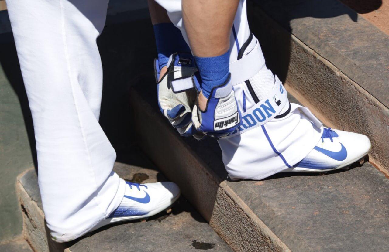 Alex Gordon Nike Cleats and Evoshield