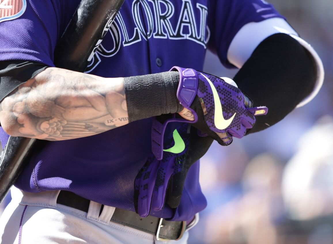 Brandon Barnes Nike Batting Gloves