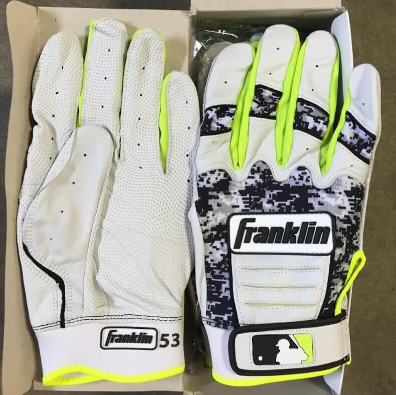 Melky Cabrera Franklin CFX Pro Batting Gloves