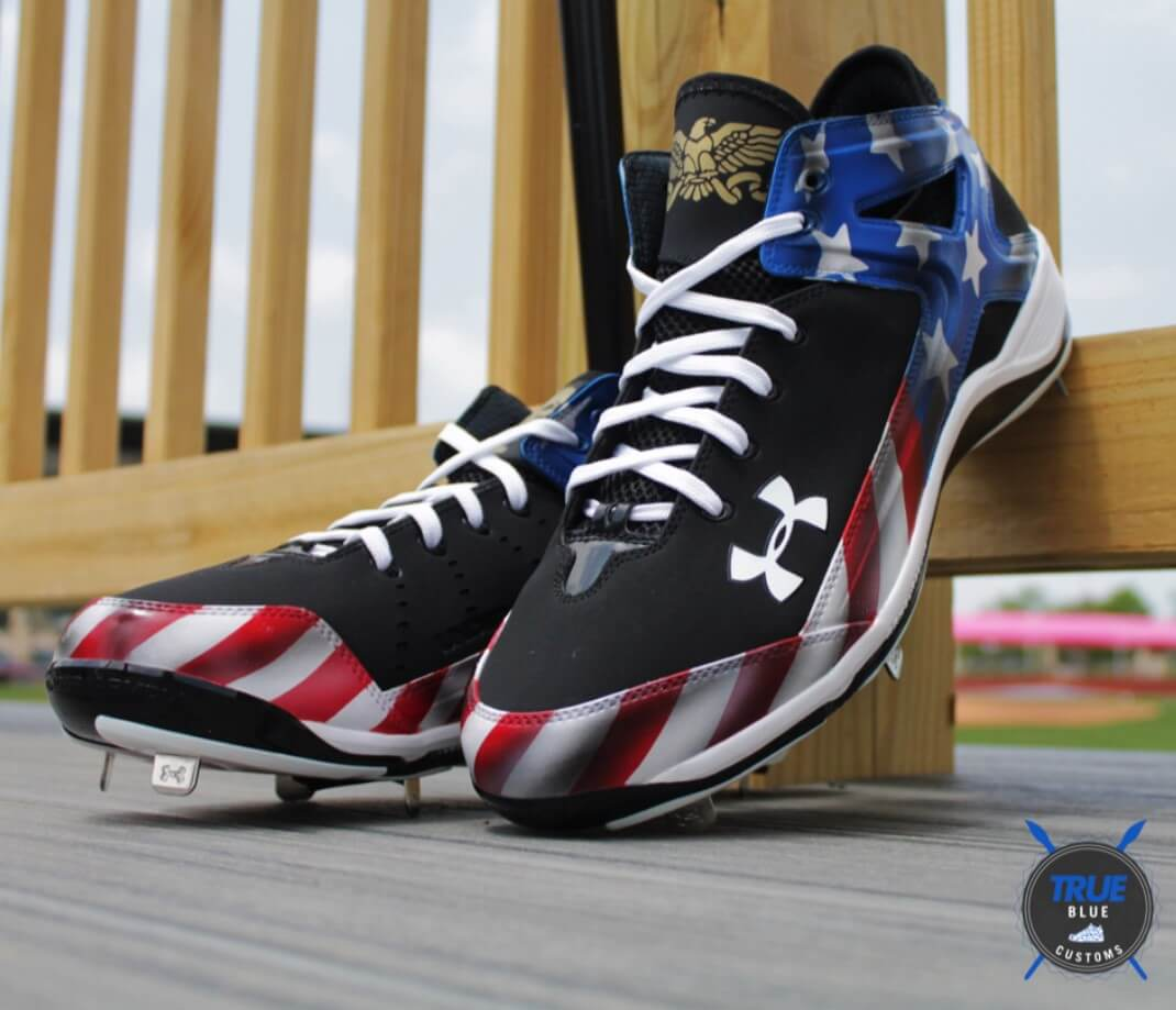 Jarrod Saltalamacchia July 4th Under Armour Cleats 2