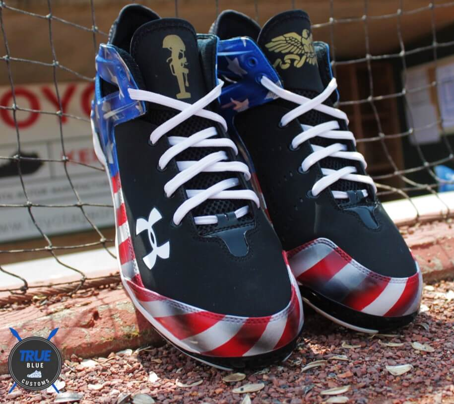 Jarrod Saltalamacchia July 4th Under Armour Cleats 3