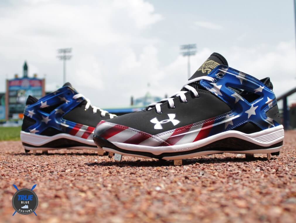 Jarrod Saltalamacchia July 4th Under Armour Cleats 4