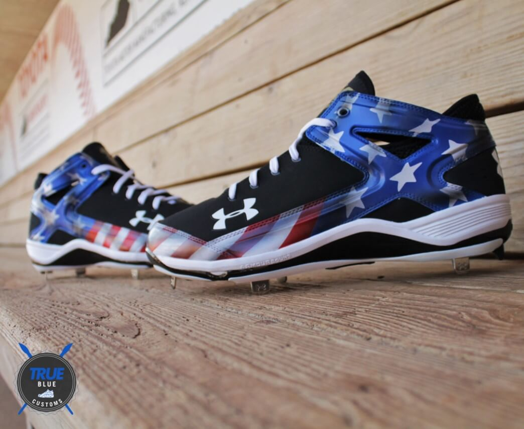 Jarrod Saltalamacchia July 4th Under Armour Cleats