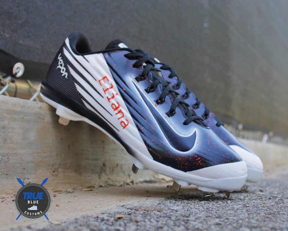 Marwin Gonzalez True Blue Customs Cleats 2