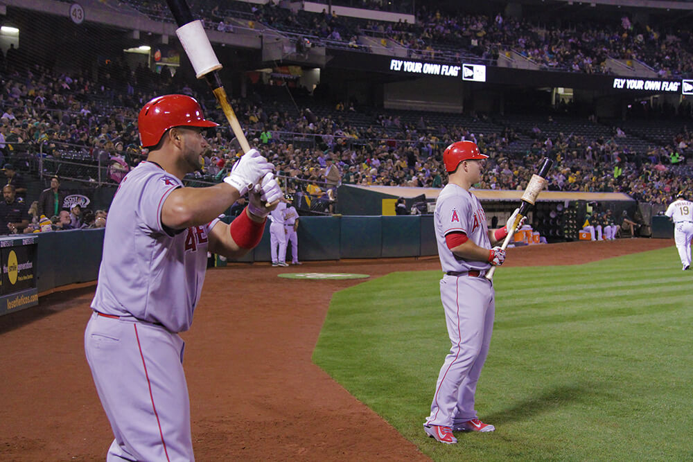 trout and pujols watching