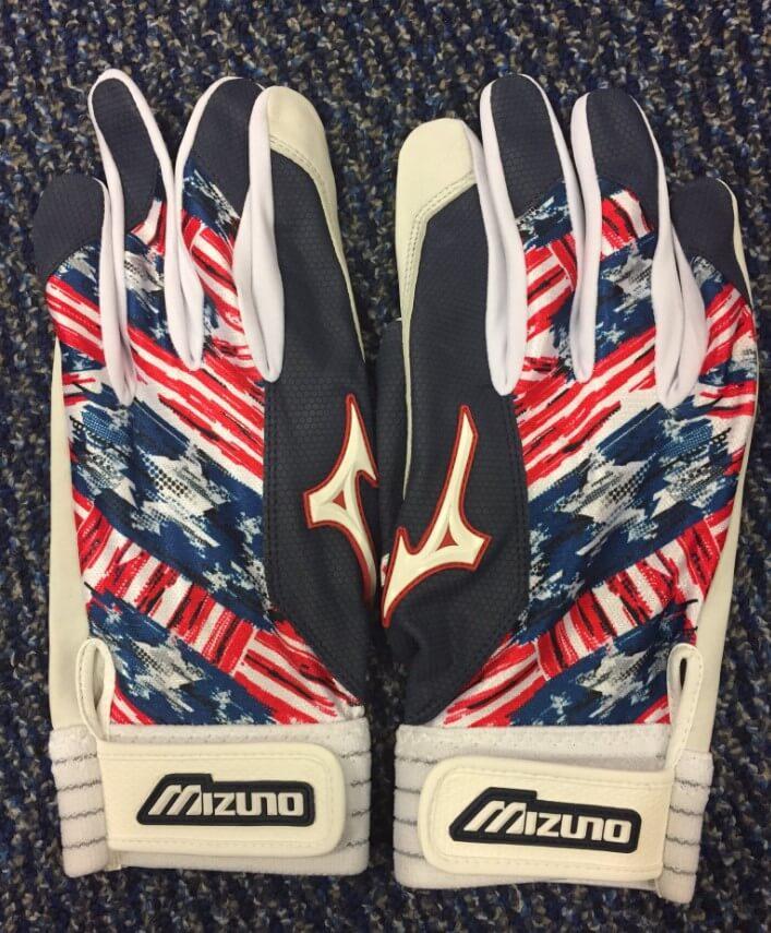 4th of July Mizuno Batting Gloves